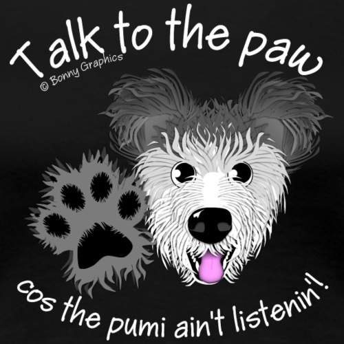 Hungarian pumi paw