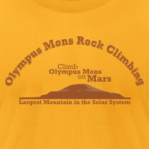 Olympus Mons Rock Climbing - Men's T-Shirt by American Apparel