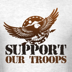 StichRulez Support Our Troops - Men's T-Shirt
