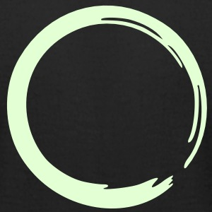 Enso, Zen , glow in the dark, meditation, Japan T-Shirts - Men's T-Shirt by American Apparel