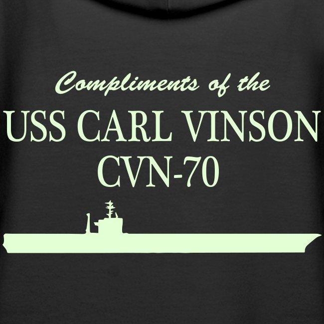USS Carl Vinson - Got Freedom Night Ops Edition Hoodie (glow in the dark)
