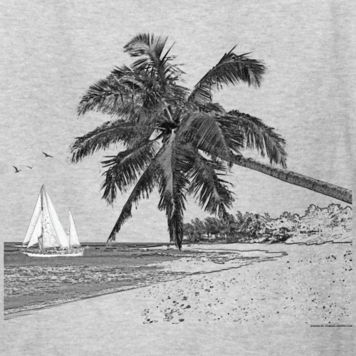 Summer Beach Vacation T Shirt, Black Design 2