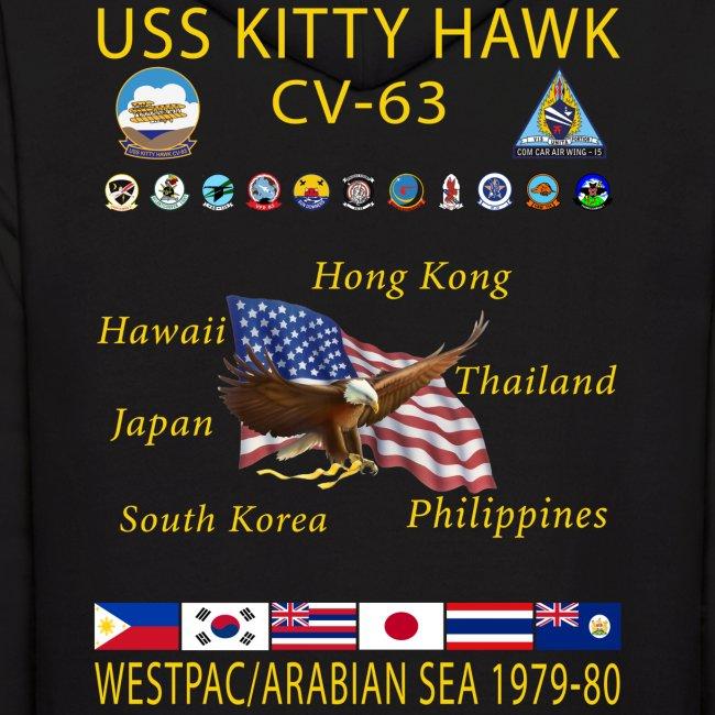 USS KITTY HAWK CV-63 WESTPAC/I.O./ ARABIAN SEA CRUISE 1979-80 HOODIE