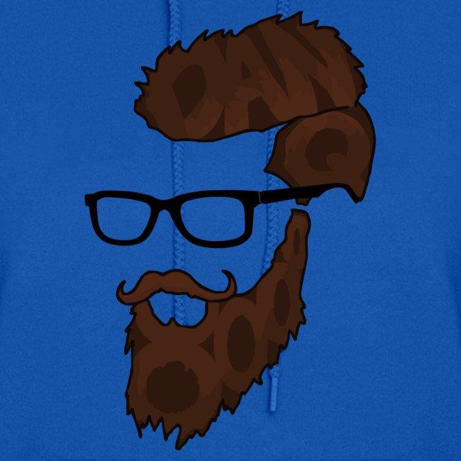 DanQ8000 Beard Logo Hoodie (2017 Edition) - Women's