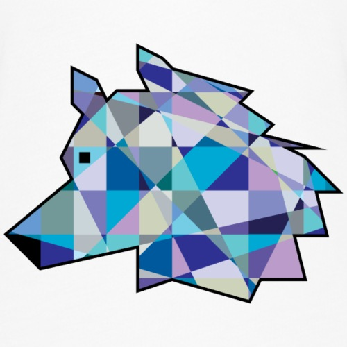 Wolf Head graphic art | Profile Wolf face