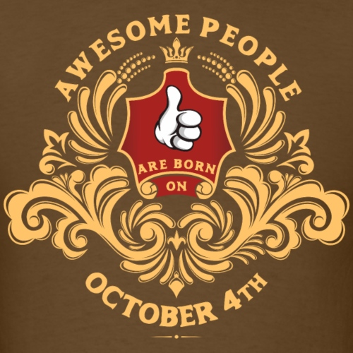 Awesome People are born on October 4th