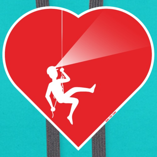 Courageous speleologist exploring inner heart