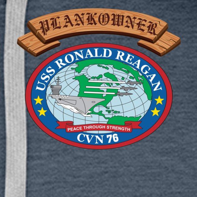 USS RONALD REAGAN PLANKOWNER CREST HOODIE