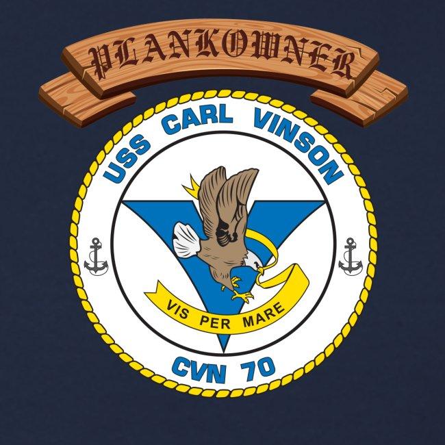 USS CARL VINSON PLANKOWNER CREST SWEATSHIRT