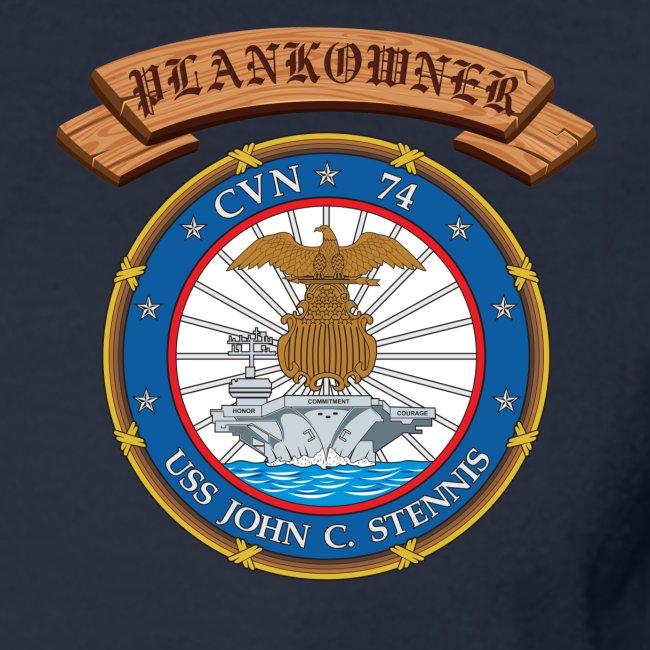USS JOHN C STENNIS PLANKOWNER CREST LONG SLEEVE SHIRT