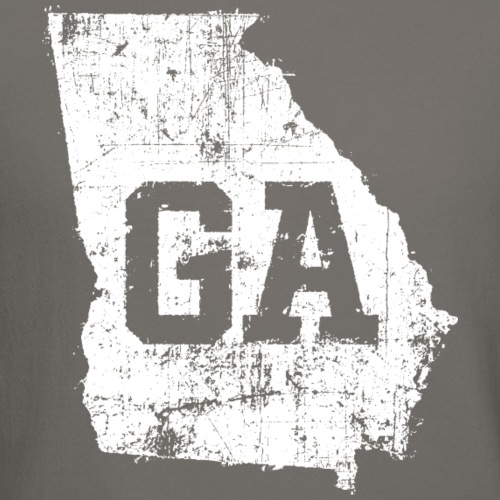 Distressed White Georgia Map