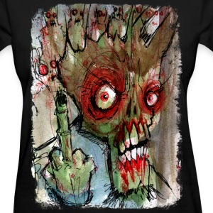 zombie gives the finger Women's T-Shirts - Women's T-Shirt