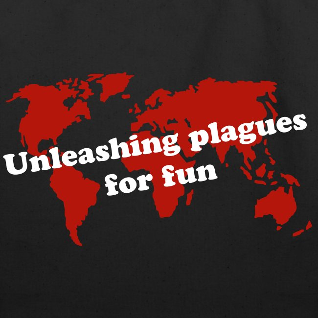 Unleashing plagues for fun tote bag