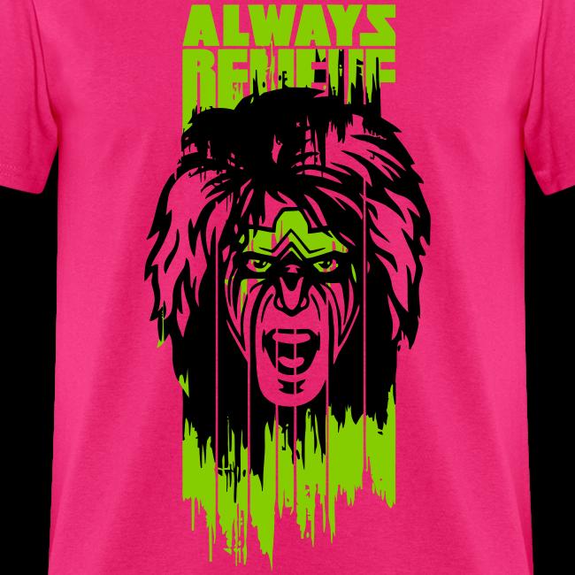 Ultimate Warrior Always Believe Paint Run Shirt