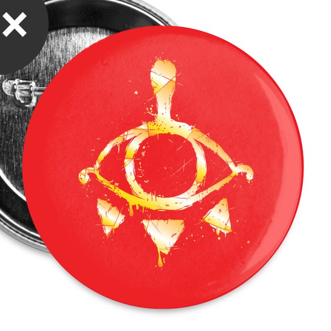 "Red & Gold Yiga Scum 1"" Button (set of 5)"