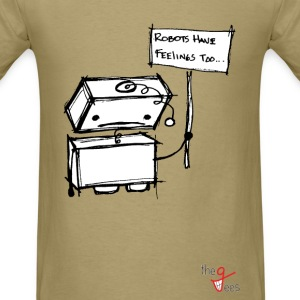 Robots with Feelings T-Shirts - Men's T-Shirt