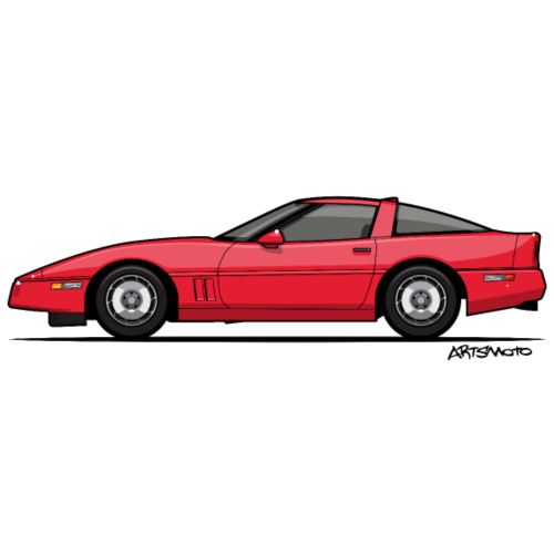 Red American C4 Coupe 1984