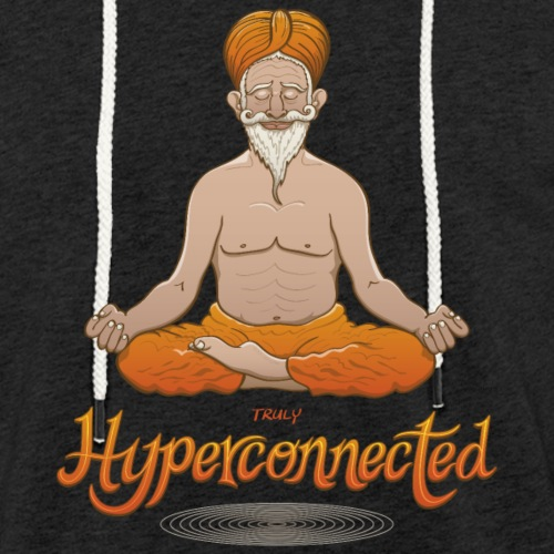 Truly hyperconnected Indian guru in meditation