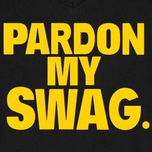 PARDON MY SWAG T-Shirts - Men's V-Neck T-Shirt by Canvas