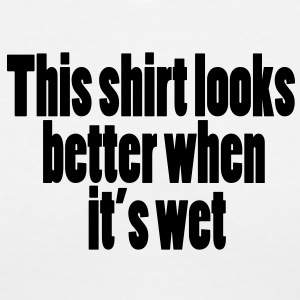 Wet Look - Women's V-Neck T-Shirt