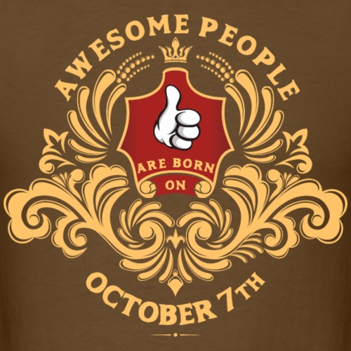 Awesome People are born on October 7th