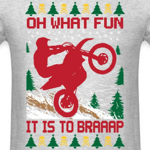 Ugly Christmas Dirt Bike
