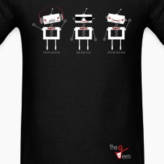 Three Wise Robots (Horizontal Ver) T-Shirts