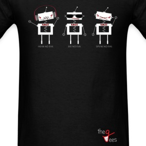 Three Wise Robots (Horizontal Ver) T-Shirts - Men's T-Shirt