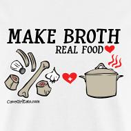 Design ~ Make Broth: Real Food Love [Men's Standard Tee]