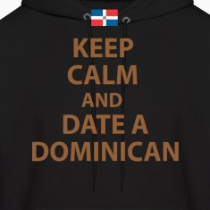 keep calm and date a dominican Hoodies