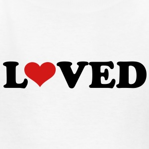 Loved heart Kids' Shirts - Kids' T-Shirt