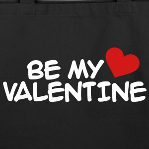 Be my valentine heart Bags  - Eco-Friendly Cotton Tote