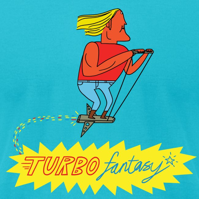 Turbo Fantasy - Turbo flying above logo