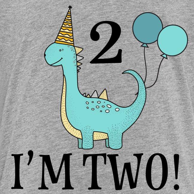 2nd Birthday Dinosaur Tshirt