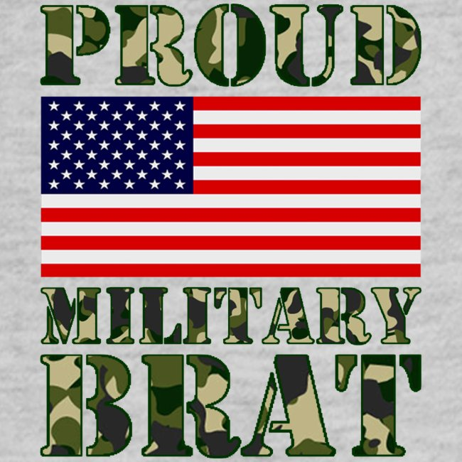 USA FLAG PROUD MILITARY BRAT USATS