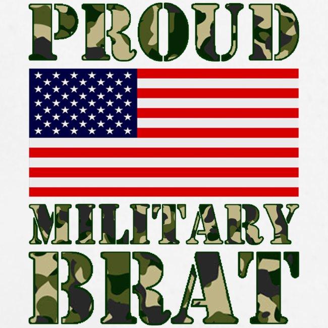 USA FLAG PROUD MILITARY BRAT USATS