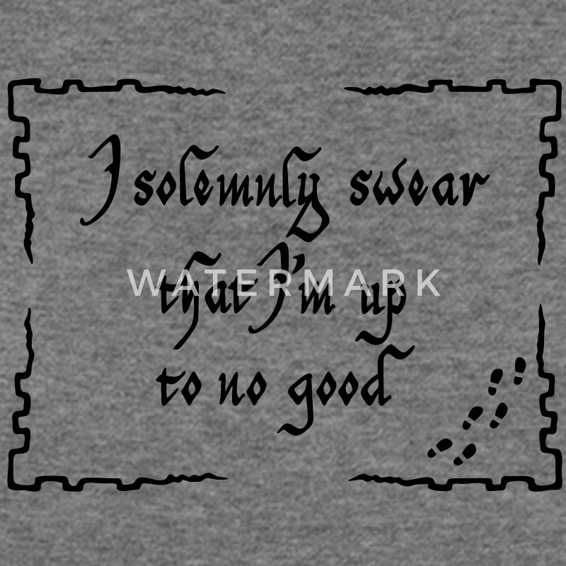 I solemnly swear that I m up to no good Long Sleeve Shirts - Women's Wideneck Sweatshirt