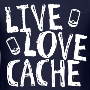 Live, Love, Cache - Men's T-Shirt