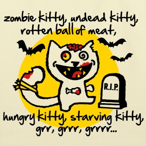 zombie kitty Bags  - Eco-Friendly Cotton Tote