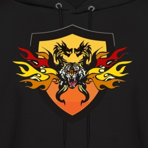Awesome Tiger Dragon Fire Hoody - Men's Hoodie