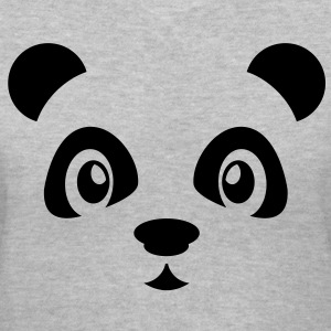 Cute Panda Women's T-Shirts - Women's V-Neck T-Shirt