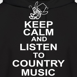keep_calm_and_listen_to_the_country_music Hoodies - Men's Hoodie