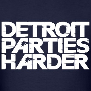Detroit Parties Harder white - Men's T-Shirt