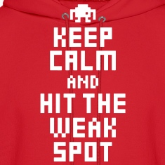 Keep Calm and Hit The Weak Spot 8Bit Hoodie