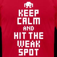 Design ~ Keep Calm and Hit The Weak Spot 8Bit Tee