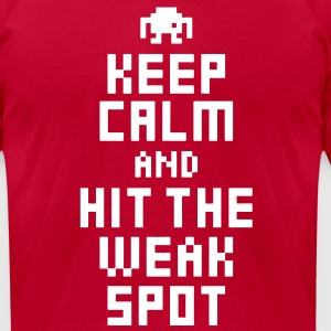 Keep Calm and Hit The Weak Spot 8Bit Tee - Men's T-Shirt by American Apparel