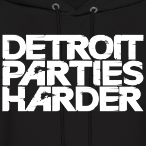 Detroit Parties Harder white - Men's Hoodie