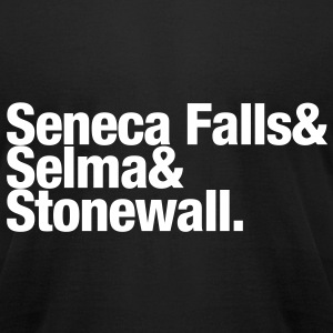 Seneca Falls & Selma & Stonewall. T-Shirts - Men's T-Shirt by American Apparel