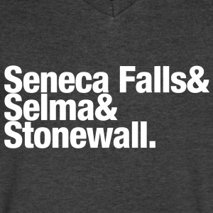 Seneca Falls & Selma & Stonewall. T-Shirts - Men's V-Neck T-Shirt by Canvas