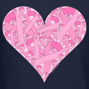 Pink Ribbon Heart Long Sleeve Shirts - Crewneck Sweatshirt
